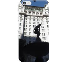 Fountain, Statue, Plaza Hotel, Central Park South, New York City iPhone Case/Skin