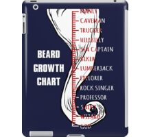 Beard Growth Chart. iPad Case/Skin