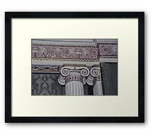 Wall capital in sideboard room Harewood House 1759 1771 West Yorkshire England 19840603 0015 Framed Print