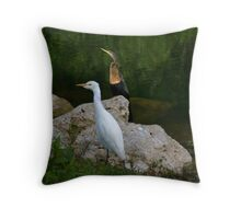 Not So Distant Cousins Throw Pillow