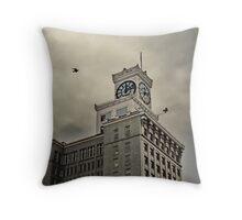 Clock Tower - Vancouver Block Throw Pillow