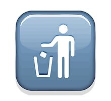 Put Litter In Its Place Symbol Apple / WhatsApp Emoji by emoji