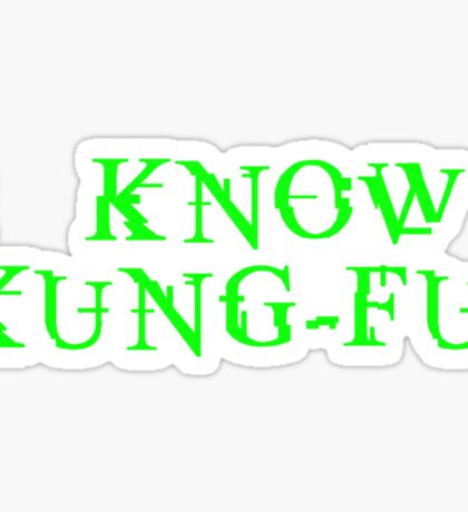 THE MATRIX: I know Kung-Fu Sticker