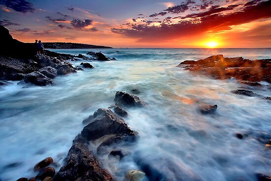 Hallett Cove Sunset by Bill  Robinson