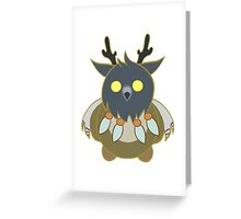 Worgen Boomkin with Light Lines Greeting Card