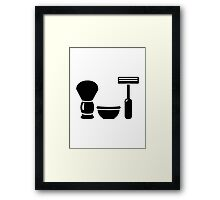 Barber shaving equipment Framed Print