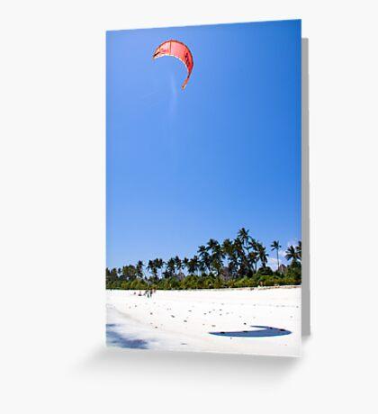 Kite Surfing! Greeting Card