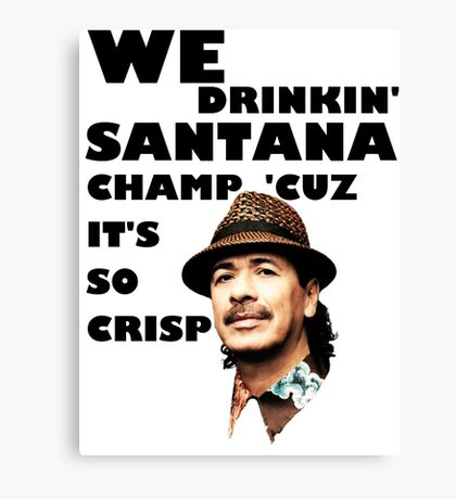LONELY ISLAND - ON A BOAT - SANTANA CHAMP Canvas Print
