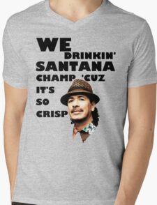 LONELY ISLAND - ON A BOAT - SANTANA CHAMP Mens V-Neck T-Shirt
