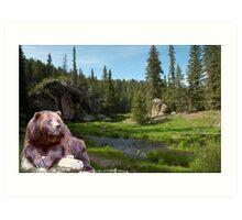 1121-Bear Country Creek Art Print
