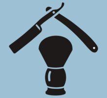 Shaving razor brush One Piece - Short Sleeve