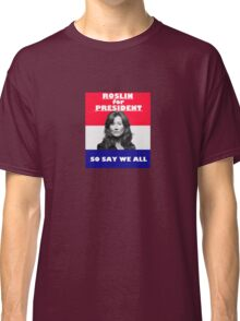 Battlestar Galactica: Roslin for President Classic T-Shirt