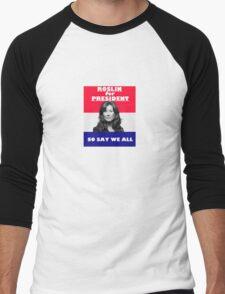 Battlestar Galactica: Roslin for President Men's Baseball ¾ T-Shirt