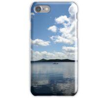 Lonely Canoe Paddler on Lake Dunmore iPhone Case/Skin