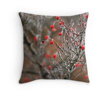 Frost Berries Throw Pillow