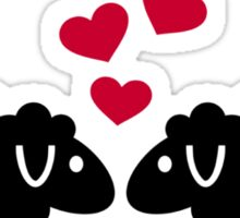 Sheep red hearts love Sticker