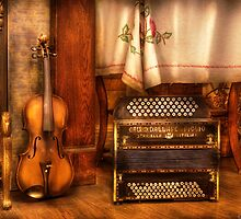 The Violin and the Accordian by Mike  Savad