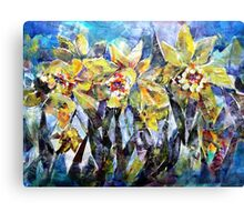 Daffodils - Flowers Art Gallery Canvas Print