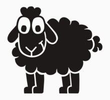 Black comic sheep Kids Tee