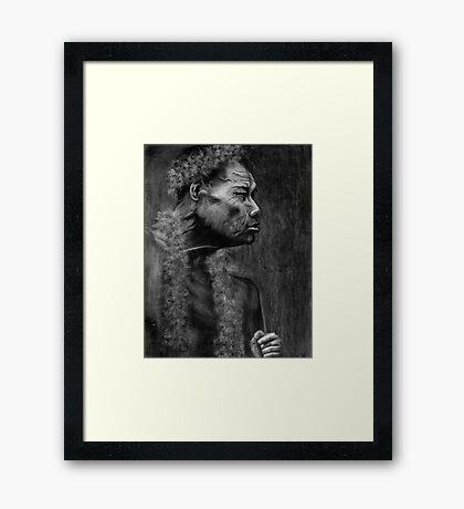 Pohnpeian Elder - Pohnpei Island, Micronesia Framed Print