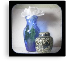 Still Life With Blue Vase TTV Canvas Print