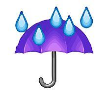 Umbrella With Rain Drops Apple / WhatsApp Emoji by emoji