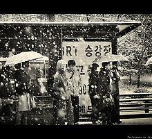 The white bus stop by Ryu SeungHyun