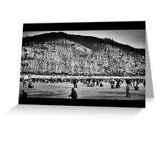 The mountain sky fish festival Greeting Card