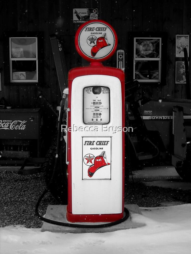 Americana Series:  Texaco Pump by Rebecca Bryson