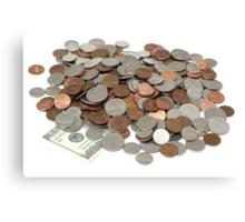 Money Pile Canvas Print