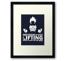 Vegeta - Lifting Framed Print