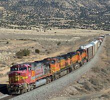 Santa Fe Engine 640 by Mitchell Tillison