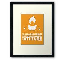 Goku - Attitude Framed Print