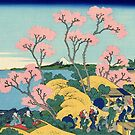 'The Fuji From Gotenyama' by Katsushika Hokusai (Reproduction) by Roz Abellera Art Gallery
