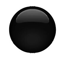 Medium Black Circle Apple / WhatsApp Emoji by emoji