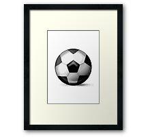 Soccer Ball Apple / WhatsApp Emoji Framed Print