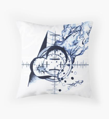 Valentine, Pen Drawing Throw Pillow