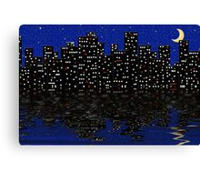 City Night Lights Canvas Print