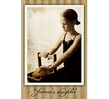 The Farmer's Daughter Photographic Print