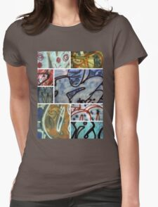 Graffiti Montage Womens Fitted T-Shirt