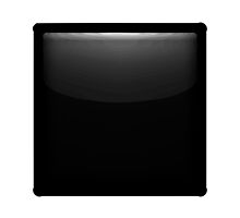 Black Large Square Apple / WhatsApp Emoji by emoji