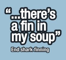 Shark fin soup isn't nice by trebordesign
