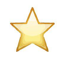 White Medium Star Apple / WhatsApp Emoji by emoji