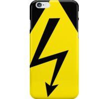 Warning sign. Lightning bolt.  iPhone Case/Skin