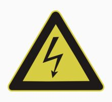 Warning sign. Lightning bolt.  Kids Clothes