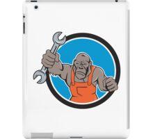 Angry Gorilla Mechanic Spanner Circle Cartoon iPad Case/Skin