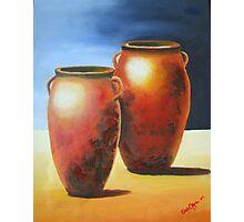 Mediterranean Pots Photographic Print