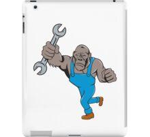 Angry Gorilla Mechanic Spanner Cartoon Isolated iPad Case/Skin