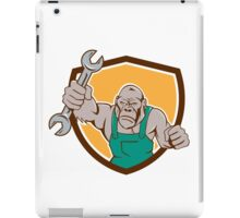 Angry Gorilla Mechanic Spanner Shield Cartoon iPad Case/Skin