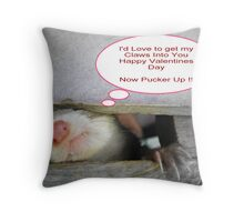 C'mon Give Us A Kiss !!! Throw Pillow